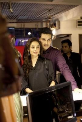 Sarwat Gillani and Ahsan Khan at Launch of Asim Jofa Bridal and Couture Studio
