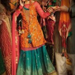 Latest Bridal Mehndi Wedding Dresses Collection 2014