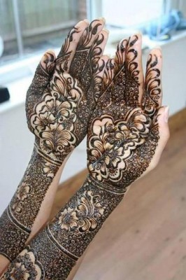 Latest Arabic Mehndi Designs Pics