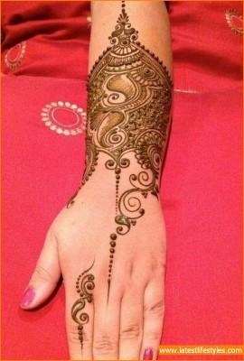 New Arabic Mehandi Design for Hands