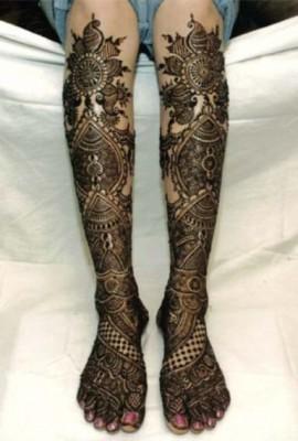 Foot Mehndi Designs for Brides