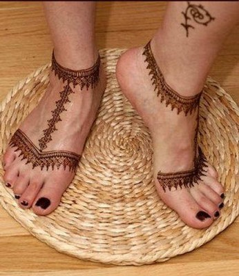 Foot Mehndi Designs for Brides