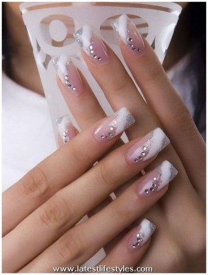 Wedding Acrylic Nail Polish Designs
