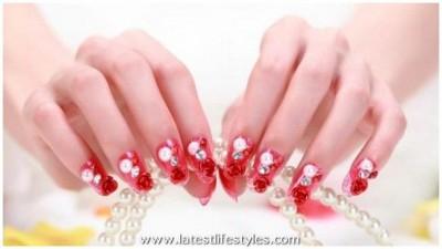 Wedding Nails Polish Art Designs