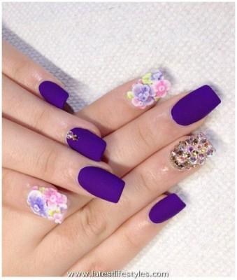 Bridal Nail Art Acrylic Designs