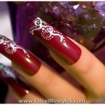 Bridal Nail Art Acrylic Designs