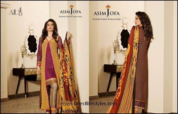 Designer Asim Jofa Lawn 2015 Collection