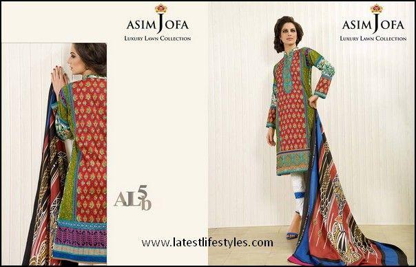 Designer Asim Jofa Lawn 2015 Collection
