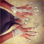 White Henna Patterns for Hands