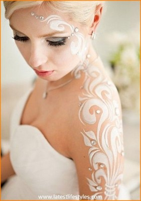 White Henna for Arabic Brides