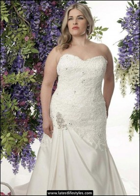 Online Wedding Plus Size Bridal Gowns 2015-16