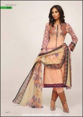 Shariq Textile Feminine Embroidered Eid Collection 2015